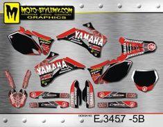 Yamaha YZf 250-450 '06-'09 - Moto-StyleMX - graphics decals kits Yamaha Yzf, Motocross, Custom Design, Bike, Decals, Graphics, Motorbikes, Bicycle, Tags