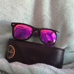 7c35a50d5b2 Tinted purple Rayban wayfarers (RB2140) Only Worn a couple of times a  minuscule scratch