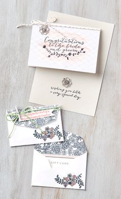 There's so many different sentiments in the For The New Two stamp set. They're wonderful for wishing newlyweds well on their big day.