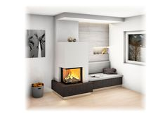 Haus ideen Bildvorschau - Sigmund Kachelofen und Fliesen Bringing a Touch of the Orient to Your Back Corner Gas Fireplace, Living Room With Fireplace, Living Room Modern, Living Spaces, Living Room Furniture, Living Room Decor, Sala Grande, Luxury Living, Sofa Design