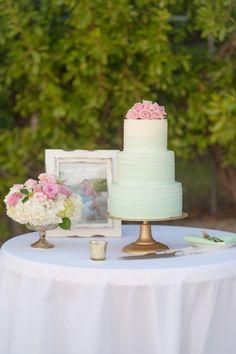 Ocean Point Suites Key Largo Weddings  - Seaglass Wedding Cake  Photo By Jannette De Llanos Photography