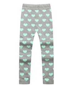 Look at this Richie House White & Gray Heart Leggings - Toddler & Girls on #zulily today!