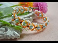 Doreenbeads Jewelry Making Tutorial - How to DIY Beautiful Flower Bracelet Using Seed Beads - YouTube
