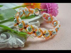 Doreenbeads Jewelry Making Tutorial - How to DIY Beautiful Flower Bracelet Using Seed Beads - YouTube