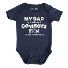 Dallas Cowboys Infant My Dad Bodysuit | Infant | Kids | Cowboys Catalog | ShopCowboys