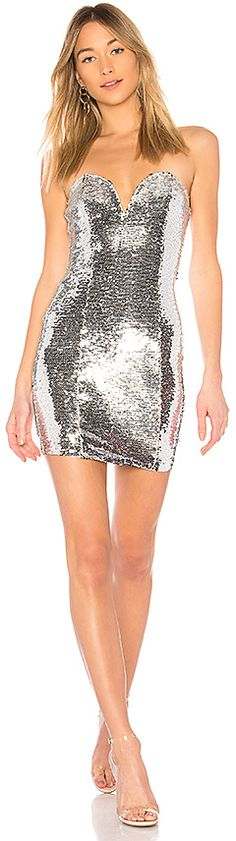 Grace Sequin Dress in Metallic Silver. - size S (also in L,M,XS) by the way.