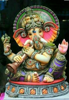 Shri Ganesh Images, Sri Ganesh, Ganesha Pictures, Ganesh Idol, Ganesha Art, Ganesh Tattoo, Ganesh Bhagwan, Karma, Lord Ganesha Paintings