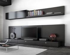 Mueble Living Modular Lcd Moderno Tv Comedor Progetto Mobili - $ 4.853,00