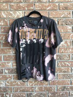 BEATLES large, cut, destroyed summer tee shirt, soft grunge, distressed, band tee, rock tee, concert tee