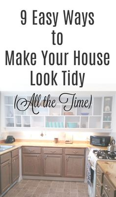 Easy things you can do to make your home feel clutter-free, even when it isn't! Organizing Your Home, Home Organization, Organizing Tips, Cleaning Hacks, Small Space Interior Design, Clutter Control, Declutter Your Life, Make A Plan, Modular Homes