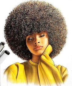 Black art in 2019 black women art, black art pictures, black art. Black Girl Art, Black Girls, Art Girl, Black Women, Natural Hair Art, Natural Hair Styles, Arte Gcse, Afrique Art, Black Art Pictures