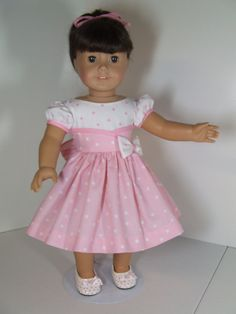 50's Dress for American Girl dolls.....Keepers Dollyduds design.....Shoes included. $42.00, via Etsy.