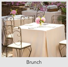 Brunch in style with Tablevogue's fitted table covers