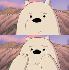 We bear bears Foto Cartoon, Bear Cartoon, Ice Bear We Bare Bears, We Bear, Sad Wallpaper, Disney Wallpaper, Desenhos Cartoon Network, Vintage Cartoons, We Bare Bears Wallpapers