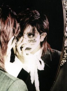 23 years old, struggling with Japanese, posting oldschool vk stuff mostly Kei Visual, Dir En Grey, Goth Aesthetic, Drawing People, Swagg, Aesthetic Pictures, Pretty Boys, Pretty People, Portrait