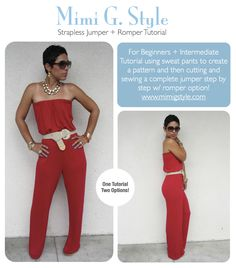 Strapless Jumper Tutorial   Download Available Now  www.mimigstyle.com