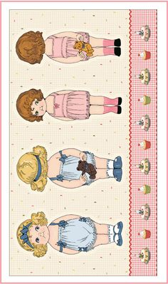 Paper Dolls Bakery by Siblings Arts Studio for Penny Rose Fabrics