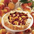 peach raspberry galette  I've actually been making this for years
