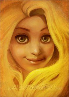 Rapunzel, Tangled, Golden Hair by AuroraWienhold.deviantart.com on @deviantART