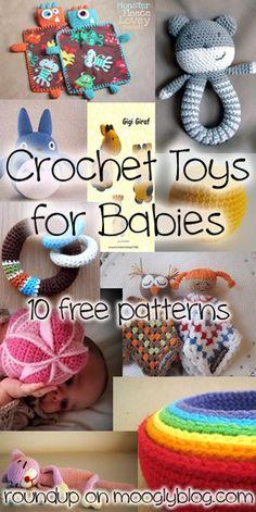 Cada bebé merece un magnífico juguete ganchillo, aquí hay 10 patrones libres   -   Every baby deserves a gorgeous crocheted toy, here are 10 free patte