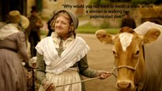 "Cranford Humor | ""Why would you not watch a show where a woman walks her pajama-clad cow?"""