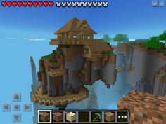 (W2) floating house in Minecraft PE