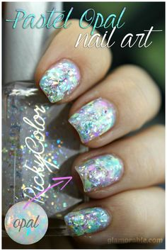Opal Nail Art Using RickyColor Pastel Opal Nail Polishes