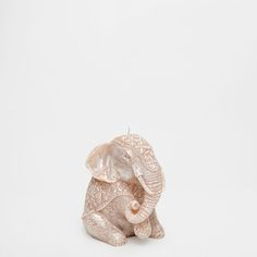 Zara Home Elephant Candle Candle Maker, Candle Shop, Candle Stand, Zara Home Elephant, Elephant Home Decor, Elefante Hindu, Front Room Decor, Collection Zara, Zara Home España