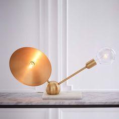 "Rosie Li Table Lamp // Side Table Lighting // 11""w x 20""d x 15""h."