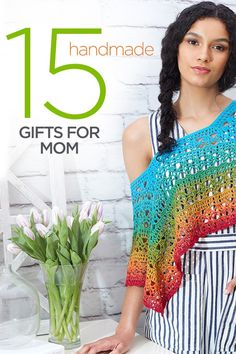 """This Mother's Day give a heartfelt and handmade gift that really says, """"I love you."""" Whether you are making Mom a keepsake afghan or a scarf in her favorite color she's sure to love the heart you put into making it. Make the perfect DIY Mother's Day Gift."""