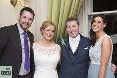 Fun guest photos at the wedding reception. Weddings at Tulfarris Hotel Photographed by Couple Photography.