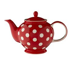 Florence Red Spot 6-Cup Teapot