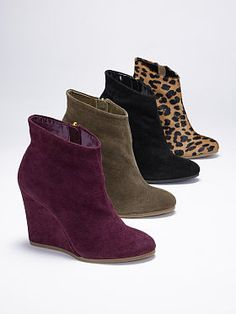 Wedge Bootie in every color? Yes, please!