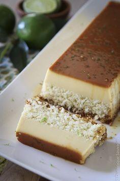 Vegetable carpaccio with reblochon - Healthy Food Mom Coconut Flan, Coconut Recipes, Coconut Oil, Flan Dessert, Easy Desserts, Dessert Recipes, Food Dishes, Sweet Recipes, Food And Drink