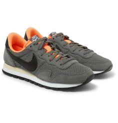 Nike | Air Pegasus 83 suede and mesh sneakers | NET A PORTER