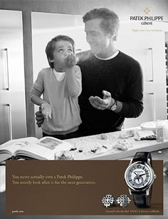 The Campaign men 2013 (for the Annual Calendar Ref. 5205G) shows the continuity and reliability of the company's message, fathers introduce their sons to a new world by passing on their experience, knowledge and values.