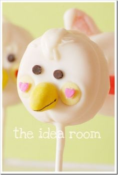 Easy Oreo Cookie Easter Chick and Bunny Pops