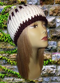 Crochet Hat Adult Unisex Toboggan Beanie One by Handmadecrafter (Accessories, Hat, Knit, unisex, Acrylic Yarn Blend, Seasonal Winter, Adult Young Adult, One size fits most, Fall Autumn, Double Wrapped, Classic Hat, Loom Knit, Classic Beanie, Classic Toboggan, White Plum)