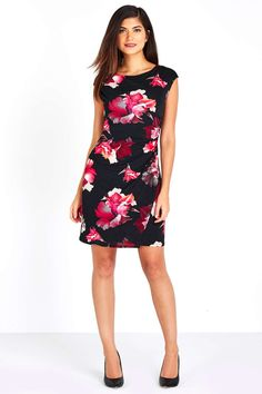 Petite Floral Tuckside Tunic Dress