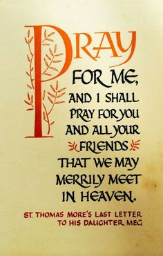 Pray for me...