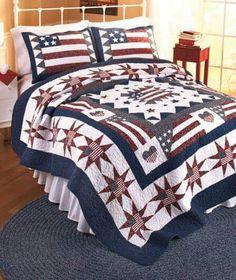 Patriotic quilt.