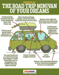 Behold: The Road Trip Minivan of Your Dreams | More LOLs & Funny Stuff for Moms |spring break | parenting humor from @RobynHTV on NickMom!