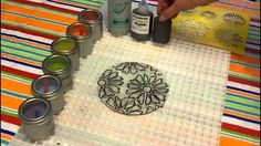 Step-by-step instructions to create a fused glass flower project using a stencil, Glassline and frit marbline.