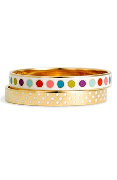 more kate spade idiom bracelet goodness. Love the colourful circles! #jewels #accessories #fashion