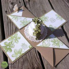 Explosionsbox, Wedding, Hochzeit, Garden in Bloom, Blümchen, Geldgeschenk, Stampin´Up!