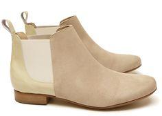 34660fda34a9 Chaussure Femme Boots Printemps Ete 2015 Maurice Manufacture BRICE verni  sable - chevre velours sable