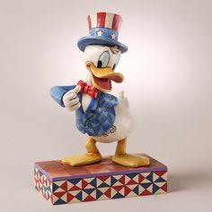 Yankee Doodle Duck-Patriotic Donald Duck Figurine