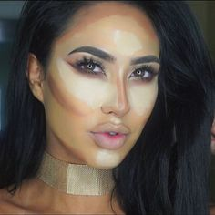 These are the main areas I hit when highlighting and contouring my face ⛏ Used the graftobian pallet to achieve my contour and my highlight ! such beautiful creamy formula that blends out beautifully ! #contour #highlight