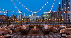 Club privado y hotel Soho House en Chicago - Peanut Design Studio Chicago House, Chicago Hotels, Rooftop Chicago, Best Boutique Hotels, Best Hotels, A Boutique, Rooftop Pool, Rooftop Garden, Rooftop Lounge