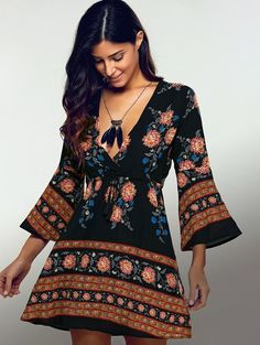 Ethnic Print Long Sleeve Vintage Dress    https://zenyogahub.com/collections/boho-dresses/products/ethnic-print-long-sleeve-vintage-dress